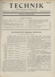 Technik, 1930, R. 3, nr 15