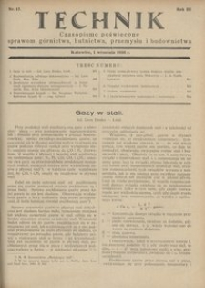 Technik, 1930, R. 3, nr 17