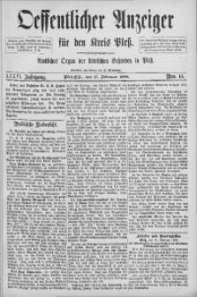 Oeffentlicher Anzeiger für den Kreis Pleß, 1888, Jg. 36, Nro. 14