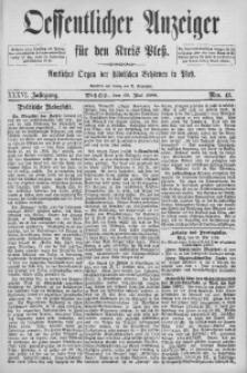 Oeffentlicher Anzeiger für den Kreis Pleß, 1888, Jg. 36, Nro. 43