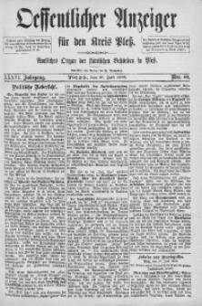 Oeffentlicher Anzeiger für den Kreis Pleß, 1888, Jg. 36, Nro. 60