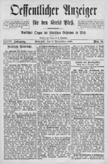 Oeffentlicher Anzeiger für den Kreis Pleß, 1888, Jg. 36, Nro. 90