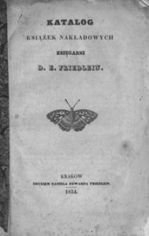 Katalog książek nakładowych księgarni D. E. Friedlein