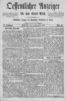 Oeffentlicher Anzeiger für den Kreis Pleß, 1889, Jg. 37, Nro. 90