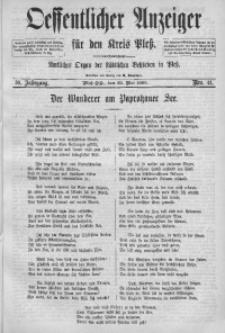 Oeffentlicher Anzeiger für den Kreis Pleß, 1890, Jg. 38, Nro. 41