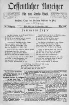 Oeffentlicher Anzeiger für den Kreis Pleß, 1890, Jg. 38, Nro. 104