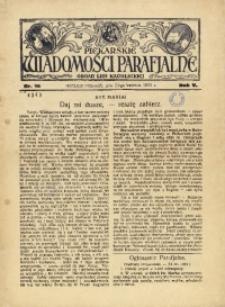 Piekarskie Wiadomości Parafjalne. Organ Ligi Katolickiej, 1933, R. 5, nr 16