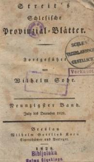 Schlesische Provinzialblätter, 1829, 90. Bd., 7. St.: July