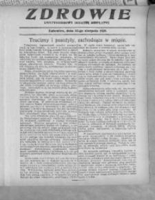 Zdrowie, 22 sierpnia 1926