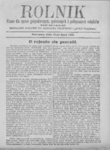 Rolnik, 20 lipca 1926