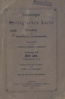 Erläuterungen zur Geologischen Karte von Preussen und benachbarten Bundesstaaten. Lieferung 202, Gradabt. 61. Nr 57, Blatt Lahn