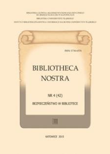 Bibliotheca Nostra. Śląski Kwartalnik Naukowy, 2015, No 4(42)