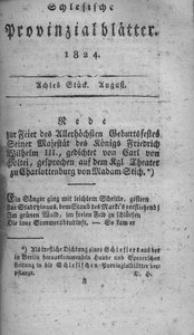 Schlesische Provinzialblätter, 1824, 80. Bd., 8. St.: August