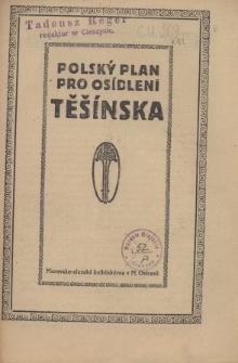 Polský plan pro osídlení Těšínska