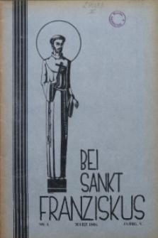 Bei Sankt Franziskus, 1938, Jg. 5, Nr. 3