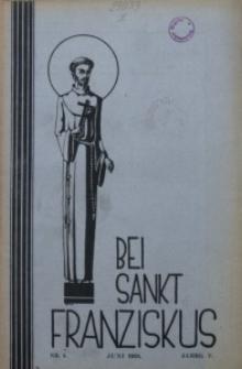 Bei Sankt Franziskus, 1938, Jg. 5, Nr. 6