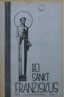 Bei Sankt Franziskus, 1938, Jg. 5, Nr. 8/9
