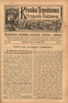 Kronika Tygodniowa do Przyjaciela Rodzinnego, 1895, R. 1, nr 22