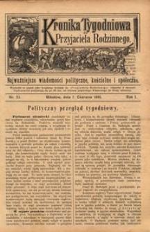 Kronika Tygodniowa do Przyjaciela Rodzinnego, 1895, R. 1, nr 23