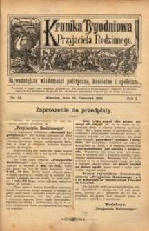 Kronika Tygodniowa do Przyjaciela Rodzinnego, 1895, R. 1, nr 26