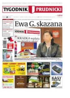Tygodnik Prudnicki : prywatna gazeta lokalna gmin : Prudnik, Biała, Głogówek, Korfantów, Lubrza, Strzeleczki, Walce. R. 23, nr 29 (1177).
