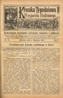 Kronika Tygodniowa do Przyjaciela Rodzinnego, 1895, R. 1, nr 36