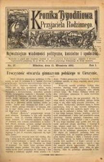 Kronika Tygodniowa do Przyjaciela Rodzinnego, 1895, R. 1, nr 37
