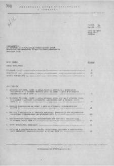 Uzupełnienie do Informacji o realizacji ważniejszych zadań społeczno - gospodarczych w woj. miejskim krakowskim, grudzień 1978 r.