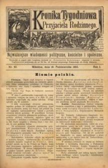 Kronika Tygodniowa do Przyjaciela Rodzinnego, 1895, R. 1, nr 42