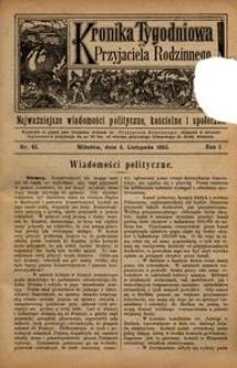 Kronika Tygodniowa do Przyjaciela Rodzinnego, 1895, R. 1, nr 45