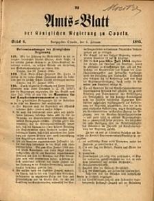 Amts-Blatt der Königlichen Regierung zu Oppeln, 1885, Bd. 70, St. 6