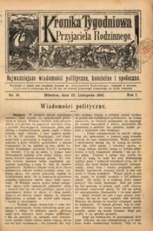 Kronika Tygodniowa do Przyjaciela Rodzinnego, 1895, R. 1, nr 47