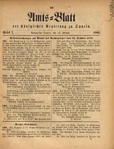 Amts-Blatt der Königlichen Regierung zu Oppeln, 1885, Bd. 70, St. 7