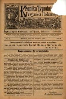 Kronika Tygodniowa do Przyjaciela Rodzinnego, 1895, R. 1, nr 51