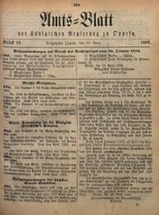 Amts-Blatt der Königlichen Regierung zu Oppeln, 1886, Bd. 71, St. 18