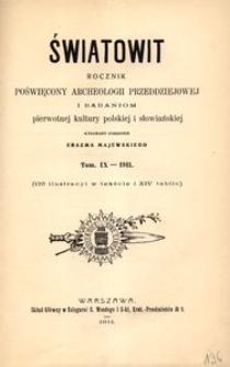 Światowit, 1911, t. 9