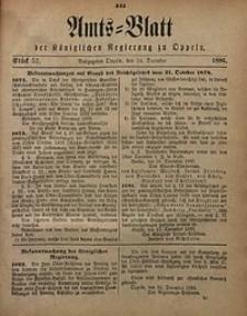 Amts-Blatt der Königlichen Regierung zu Oppeln, 1886, Bd. 71, St. 52