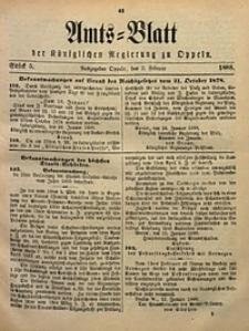 Amts-Blatt der Königlichen Regierung zu Oppeln, 1888, Bd. 73, St. 5