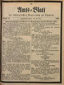 Amts-Blatt der Königlichen Regierung zu Oppeln, 1888, Bd. 73, St. 12