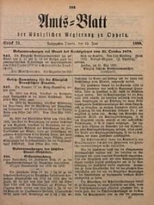 Amts-Blatt der Königlichen Regierung zu Oppeln, 1888, Bd. 73, St. 24
