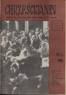 Chrześcijanin, 1984, nr 3