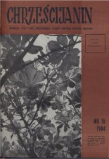 Chrześcijanin, 1984, nr 10