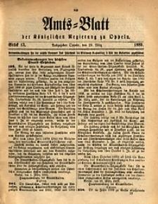 Amts-Blatt der Königlichen Regierung zu Oppeln, 1889, Bd. 74, St. 13