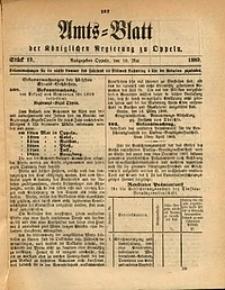Amts-Blatt der Königlichen Regierung zu Oppeln, 1889, Bd. 74, St. 19