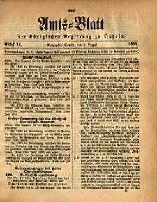 Amts-Blatt der Königlichen Regierung zu Oppeln, 1889, Bd. 74, St. 31