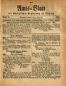 Amts-Blatt der Königlichen Regierung zu Oppeln, 1889, Bd. 74, St. 44