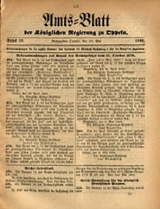 Amts-Blatt der Königlichen Regierung zu Oppeln, 1890, Bd. 75, St. 20