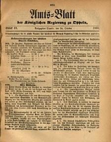 Amts-Blatt der Königlichen Regierung zu Oppeln, 1890, Bd. 75, St. 43