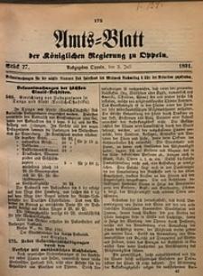 Amts-Blatt der Königlichen Regierung zu Oppeln, 1891, Bd. 76, St. 27