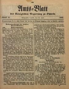 Amts-Blatt der Königlichen Regierung zu Oppeln, 1892, Bd. 77, St. 26